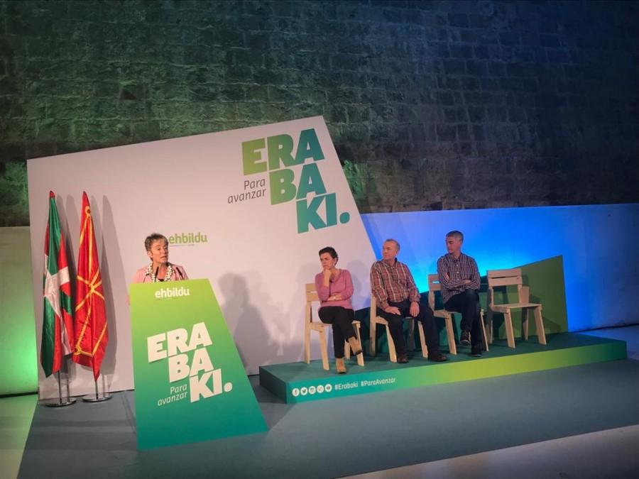 Bel Pozueta: «Nafarron ahots errebeldea Madrilen entzun dadin EH Bildu da  berme bakarra»